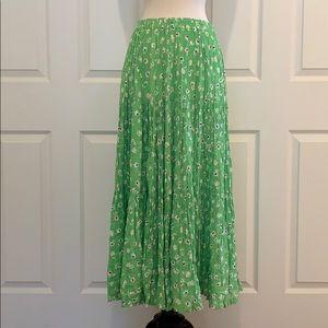 Vintage Floral Print Spring / Summer Maxi Skirt